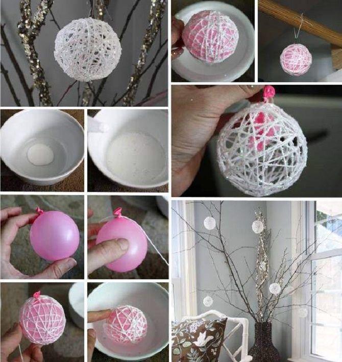 Красивый и необычный декор новогодних шаров – лучшие идеи с фото 2