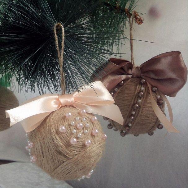 Красивый и необычный декор новогодних шаров – лучшие идеи с фото 12