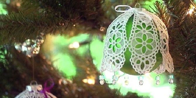 Красивый и необычный декор новогодних шаров – лучшие идеи с фото 13