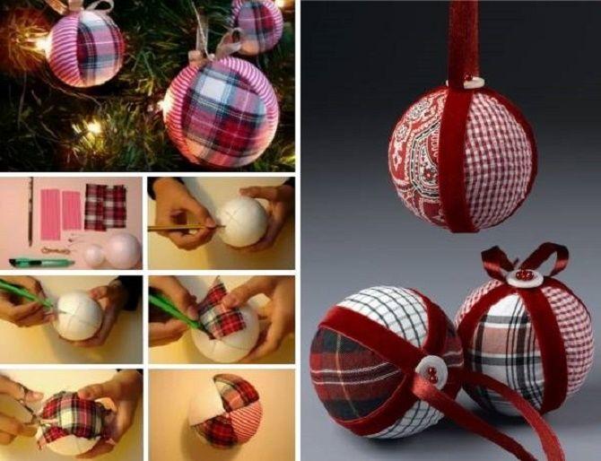 Красивый и необычный декор новогодних шаров – лучшие идеи с фото 18