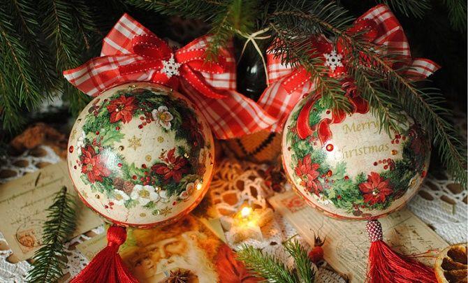 Красивый и необычный декор новогодних шаров – лучшие идеи с фото 19