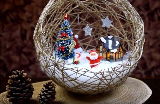 Красивый и необычный декор новогодних шаров – лучшие идеи с фото 3