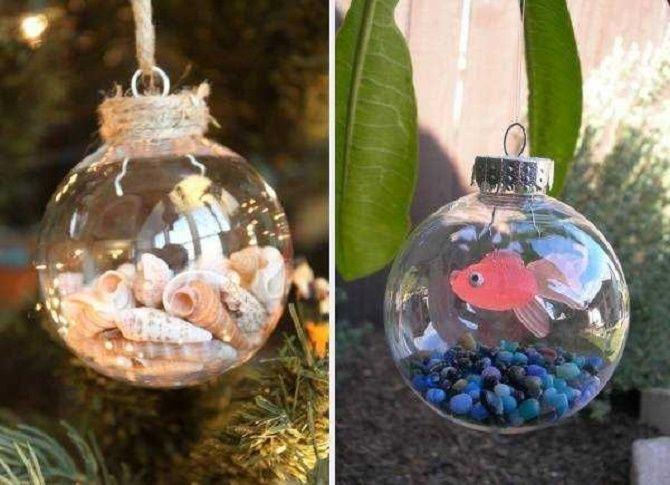 Красивый и необычный декор новогодних шаров – лучшие идеи с фото 22
