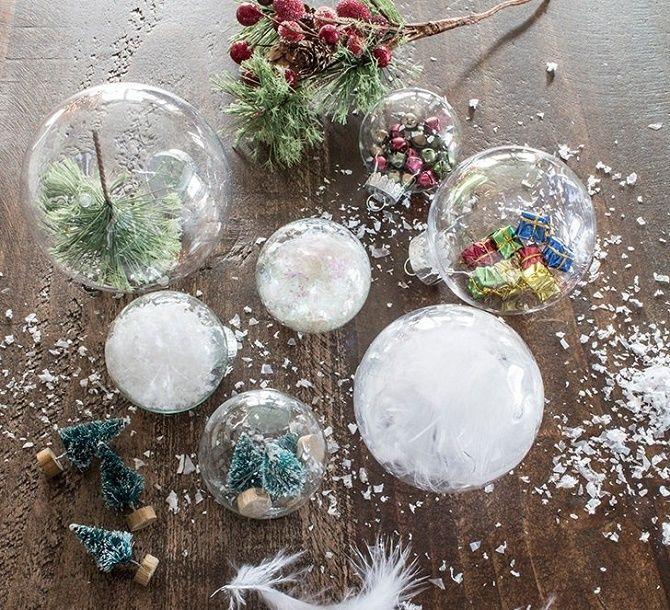 Красивый и необычный декор новогодних шаров – лучшие идеи с фото 23