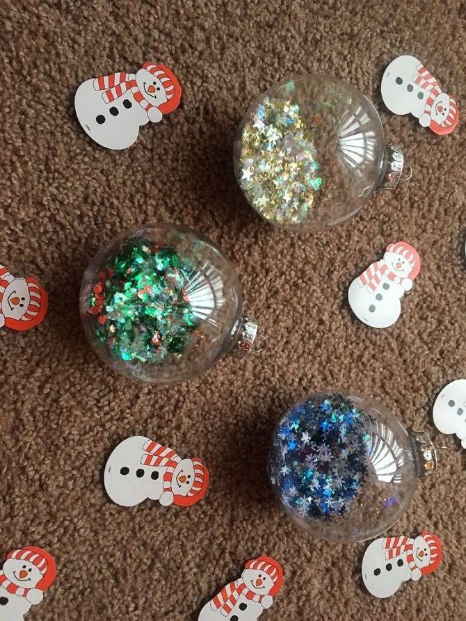 Красивый и необычный декор новогодних шаров – лучшие идеи с фото 24