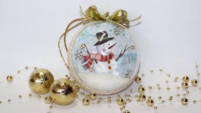 Красивый и необычный декор новогодних шаров – лучшие идеи с фото 29