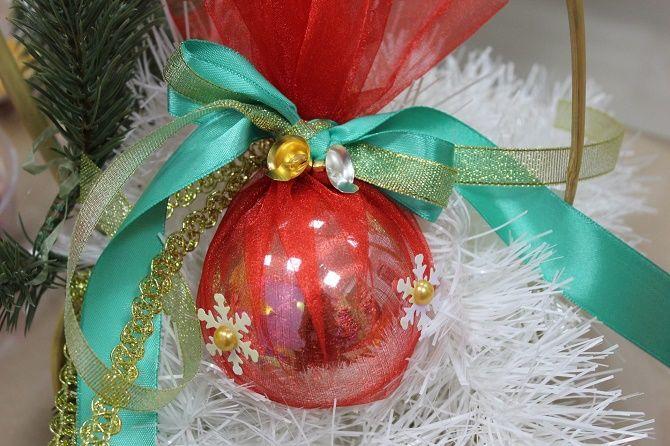 Красивый и необычный декор новогодних шаров – лучшие идеи с фото 34