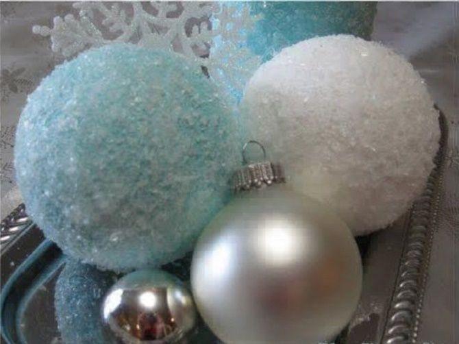 Красивый и необычный декор новогодних шаров – лучшие идеи с фото 36