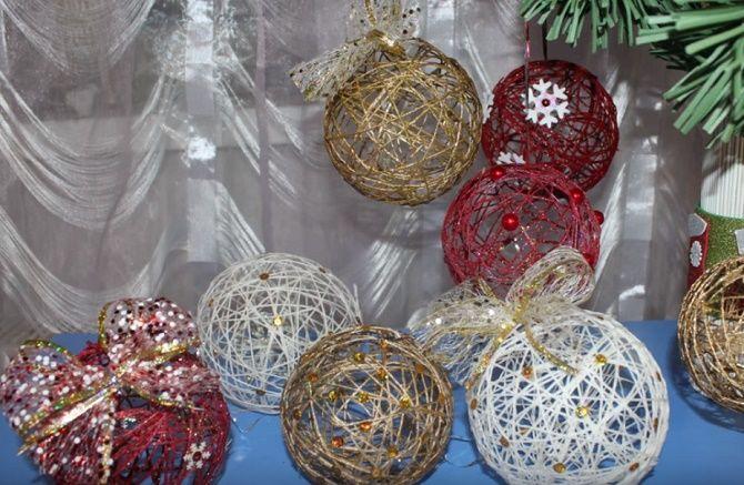 Красивый и необычный декор новогодних шаров – лучшие идеи с фото 6