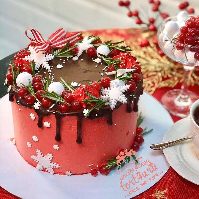 Найкрасивіші і оригінальні торти на Новий рік 2021: як прикрасити ласощі? 23