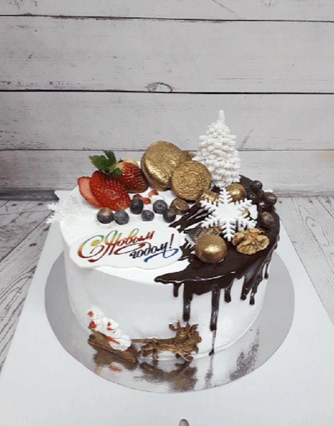 Найкрасивіші і оригінальні торти на Новий рік 2021: як прикрасити ласощі? 27