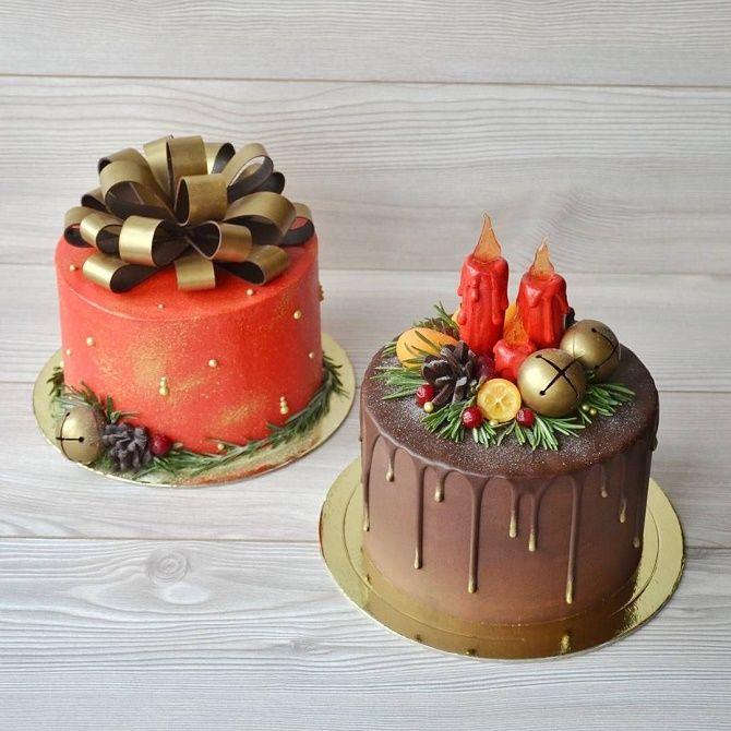 Найкрасивіші і оригінальні торти на Новий рік 2021: як прикрасити ласощі? 45