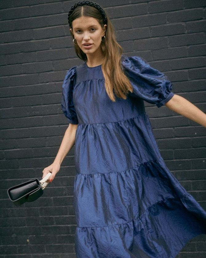 Нарядные и повседневные платья из тафты — как выбрать, с чем сочетать 21