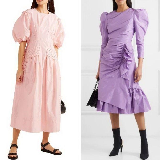 Нарядные и повседневные платья из тафты — как выбрать, с чем сочетать 24