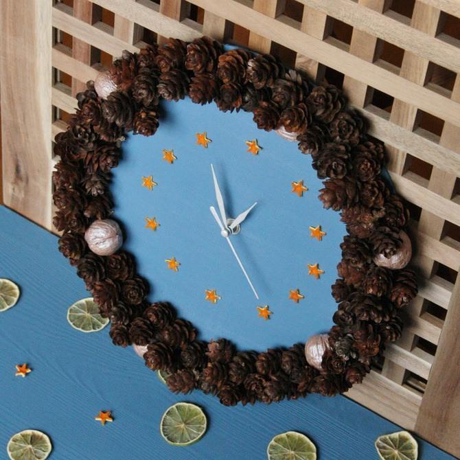 Поделка новогодние часы 1