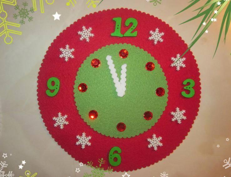 Поделка новогодние часы 16