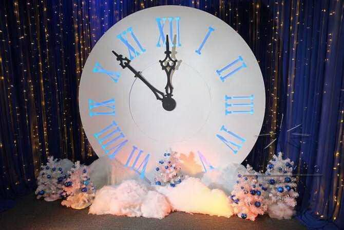 Поделка новогодние часы 2