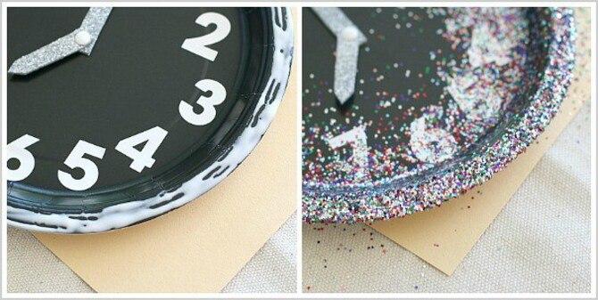 Поделка новогодние часы 5