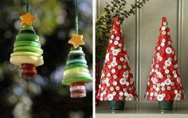 Прості ідеї для новорічних виробів з ґудзиків