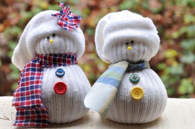 Новорічні вироби зі шкарпетки – найкрасивіші прикраси на Новий рік 2021 2