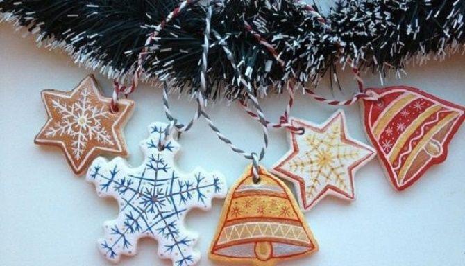 Красиво и необычно: создаем новогодние поделки из соленого теста 2