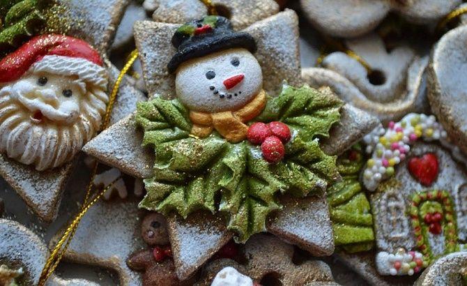 Красиво и необычно: создаем новогодние поделки из соленого теста 29