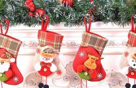Делаем новогодние носки своими руками
