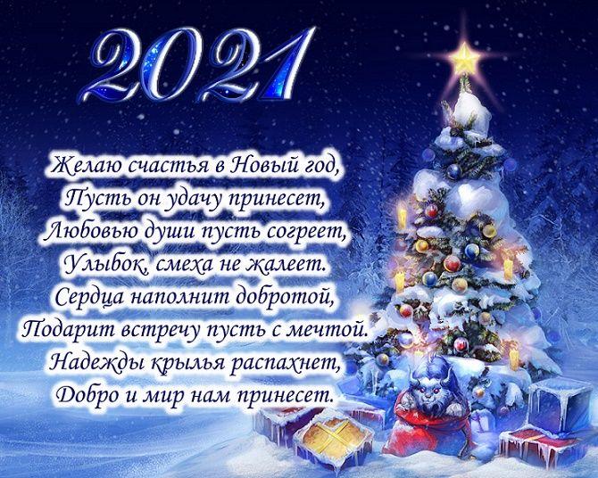 Чудесные поздравления с Новым годом 2021: открытки и картинки в год Быка 2