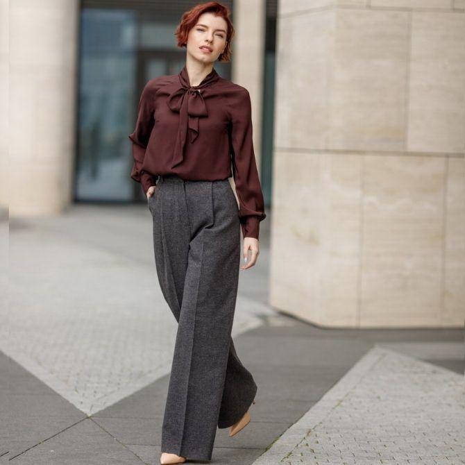 Шерстяные брюки — модный лук зимнего сезона 2
