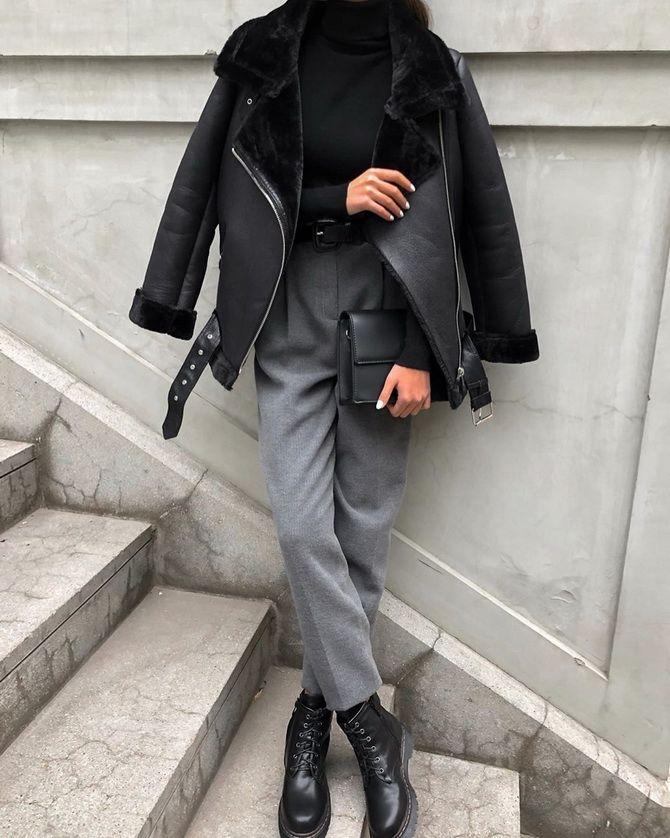 Шерстяные брюки — модный лук зимнего сезона 12