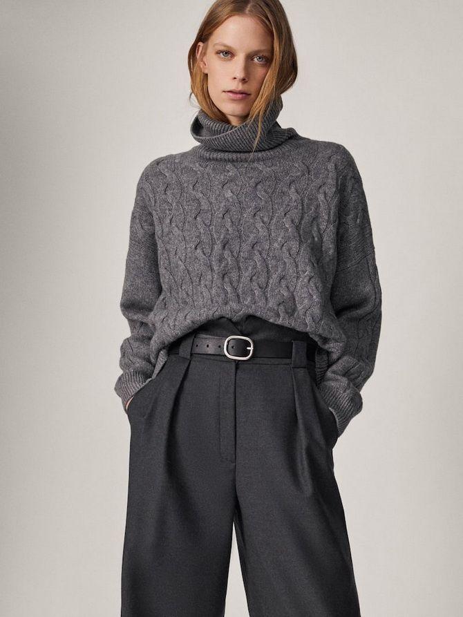 Шерстяные брюки — модный лук зимнего сезона 5