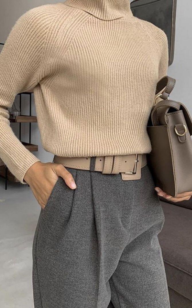 Шерстяные брюки — модный лук зимнего сезона 6