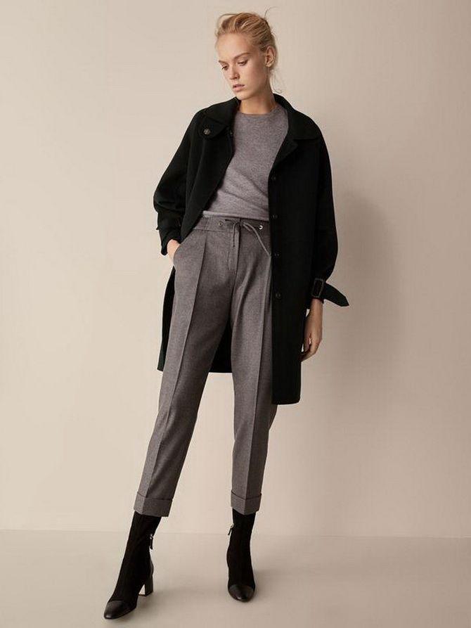 Шерстяные брюки — модный лук зимнего сезона 7