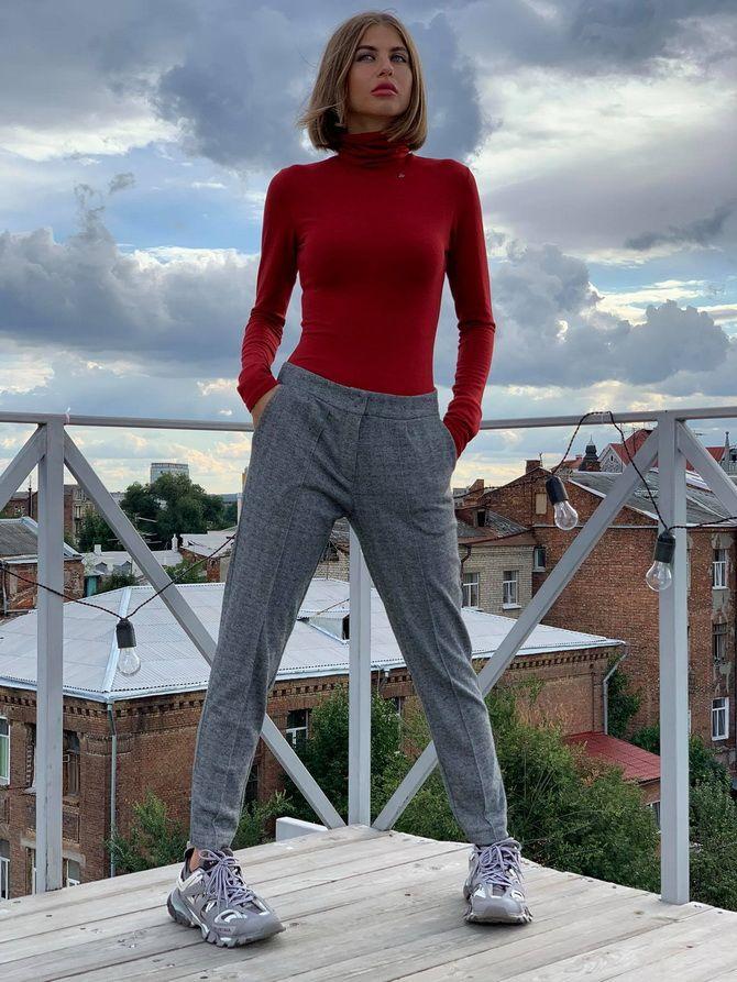 Шерстяные брюки — модный лук зимнего сезона 10