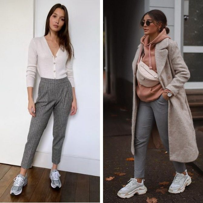 Шерстяные брюки — модный лук зимнего сезона 11