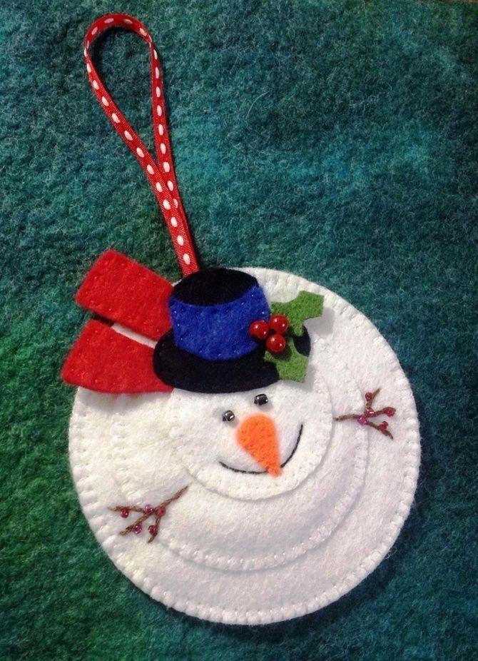 Как сделать снеговика из ватных дисков – лучшие новогодние поделки 21