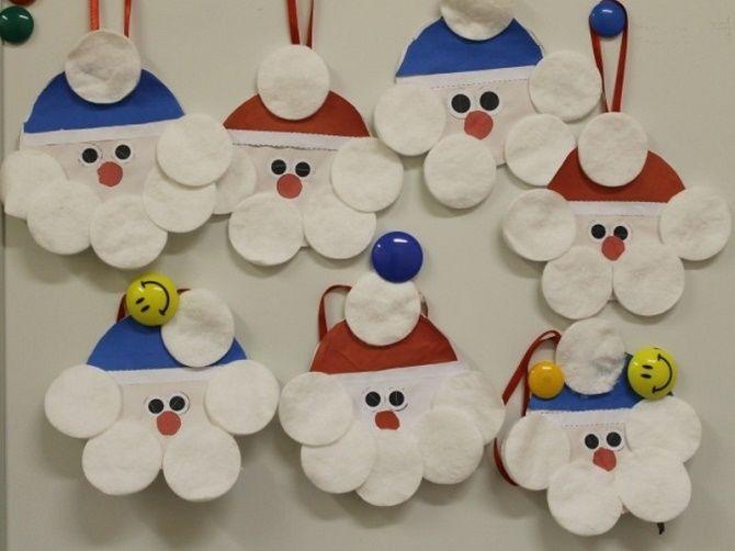 Как сделать снеговика из ватных дисков – лучшие новогодние поделки 23