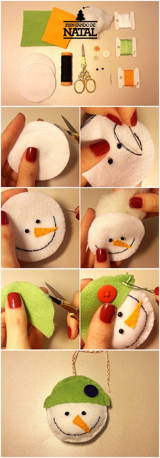 Как сделать снеговика из ватных дисков – лучшие новогодние поделки 9