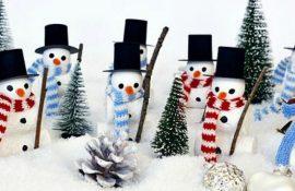 Новорічне диво своїми руками: 50 ідей сніговика