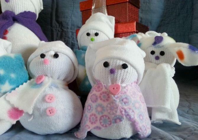 Новогоднее волшебство своими руками: 50 идей снеговика 11