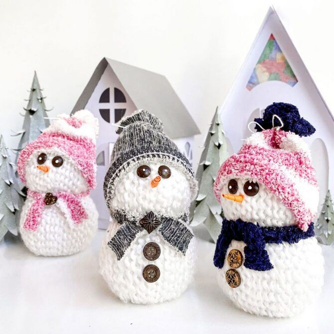 Новогоднее волшебство своими руками: 50 идей снеговика 13