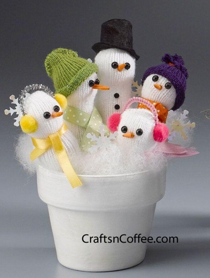 Новогоднее волшебство своими руками: 50 идей снеговика 14