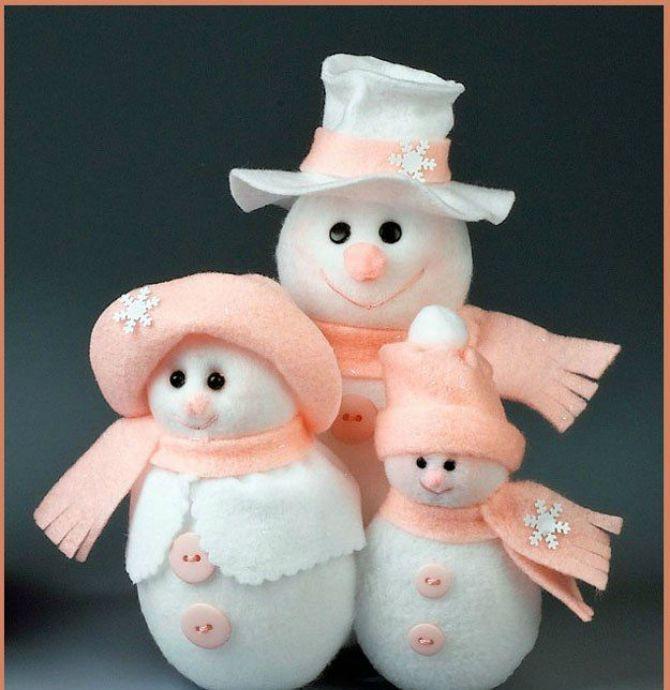 Новогоднее волшебство своими руками: 50 идей снеговика 15