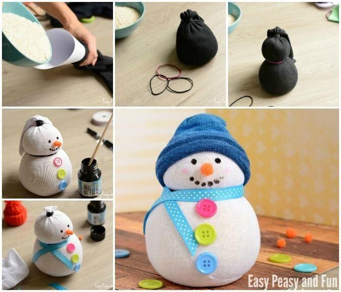 Новогоднее волшебство своими руками: 50 идей снеговика 1