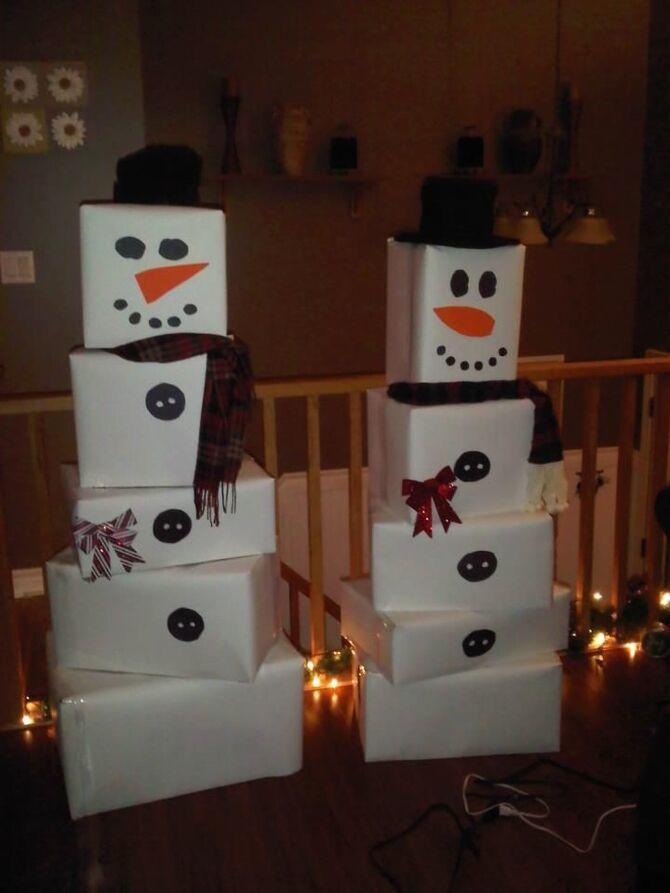 Новогоднее волшебство своими руками: 50 идей снеговика 16