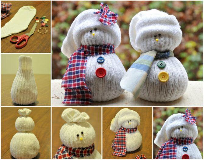 Новогоднее волшебство своими руками: 50 идей снеговика 2