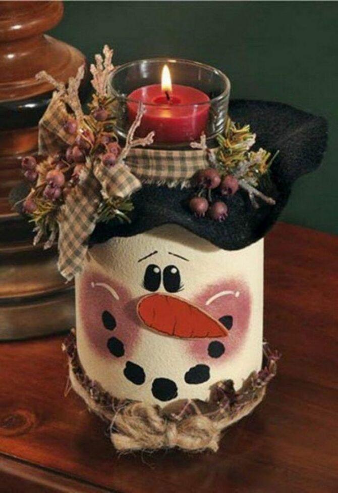 Новогоднее волшебство своими руками: 50 идей снеговика 27
