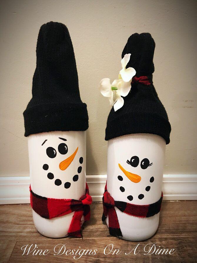 Новогоднее волшебство своими руками: 50 идей снеговика 26