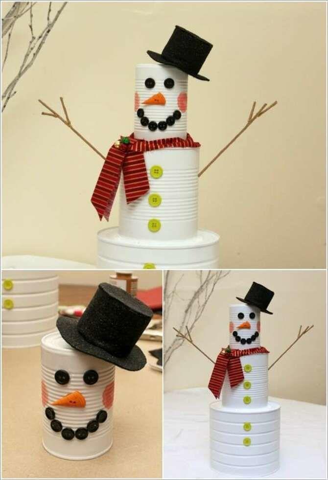 Новогоднее волшебство своими руками: 50 идей снеговика 30