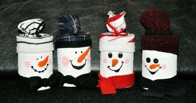 Новогоднее волшебство своими руками: 50 идей снеговика 32